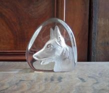 Presse papier en cristal d'Arques
