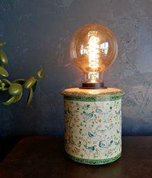 """Lampe vintage, lampe de table, lampe de bureau """"Les Oiseaux"""""""