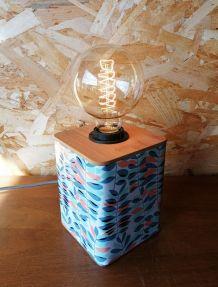 """Lampe vintage, lampe de table, lampe de bureau """"Végétal"""""""