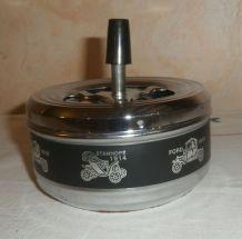 Cendrier à poussoir métal vintage