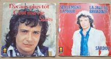 Lot de 2 vinyles 45 tours de Michel Sardou