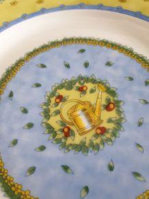 6 assiettes porcelaine de Limoges