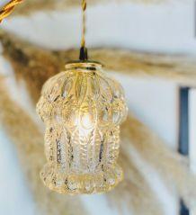 Lampe baladeuse / suspension globe pressé transparent - Circ