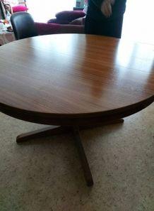 Table scandinave extensible années 60
