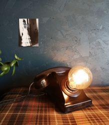 """Lampe industrielle, lampe vintage - """"Appel masqué"""""""