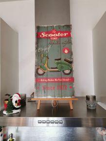 Panneau décoratif vintage scooter