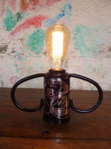 Lampe bouchon bonbonne - POMPIER -