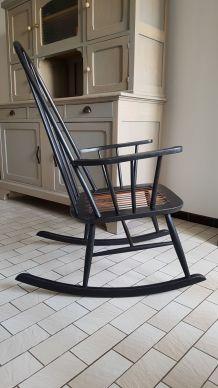 Ancien rocking-chair vintage R. Rainer rénové 1950-60