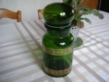 Bocal en verre vert Vintage 60'S
