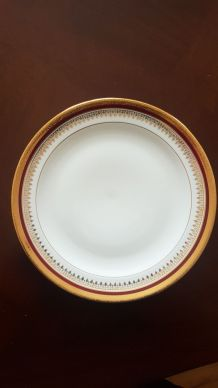 12 assiettes à dessert en porcelaine de limoges blanche