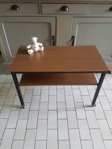 Anciene console  formica,  table basse vintage 1970