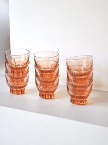 9 verres rosés