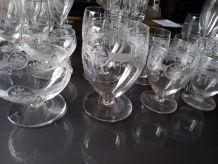 Service de verres en cristal ancien - 2 ensembles