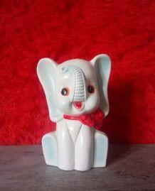 Jolie tirelire éléphant  en céramique - Années 60