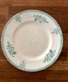 Assiette plate St-Amand 4003