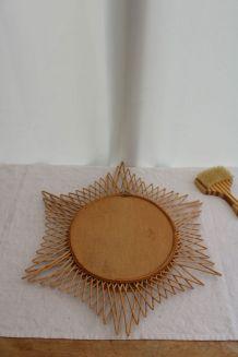 Miroir soleil en osier