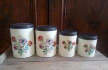 4 jolis pots de conservation vintage