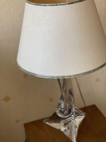 pied de lampe en cristal Saint-Louis 1950