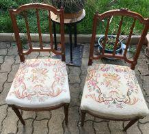 Paires de chaises style Louis XVI