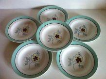 6 assiettes creuses vintages ST Amand
