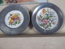 Assiettes décorative Etain et Céramique