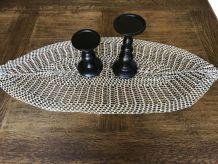 Grand napperon vintage ovale