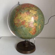 Globe terrestre vintage 1980 de Räth ex-RDA - 46 cm
