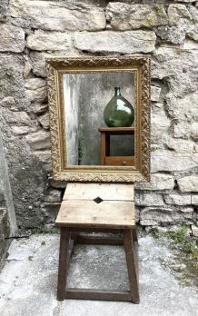 Miroir encadrement art nouveau