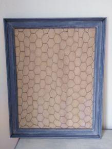 cadre bleu pêle-mêle