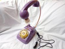 Lampe DIY téléphone années 60