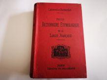 DICTIONNAIRE ETYMOLOGIQUE de 1896