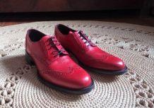 Chaussures Richelieu en cuir rouge - Elisabeth Stuart (36)