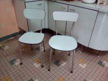 Buffet et ses 6 chaises vintage en formica
