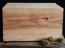 Ancienne caisse à vins en bois, coffret à vins en bois.