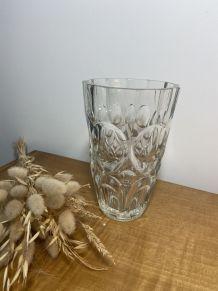 Vase vintage 1960 en verre