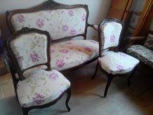 Salon Louis XV: canapé et 4 chaises