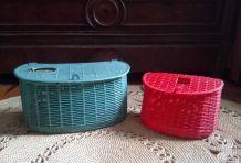 Deux paniers de pêche  en plastique - Syla