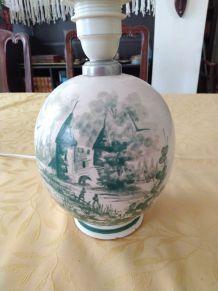 Pied de lampe céramique peinte à la main
