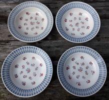 assiettes creuses sarreguemines décor anjou