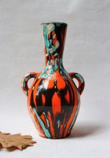 vase Marc Roussel Moustier vintage année 50/60.  Vallauris.