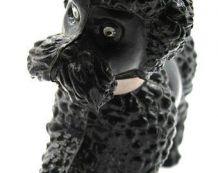 Jouet vintage caniche noir