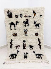 125x82cm Tapis berbere marocain azilal