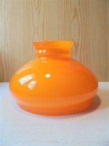 Globe vintage en verre orange