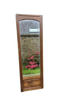 Ancien grand miroir biseauté vintage 1940 (porte d'armoire)