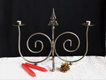 Porte-bougies métal, candélabre, chandelier, bougeoir métal