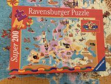 Puzzle 200 pièces Mickey Kids carte Europe avec perso Disney