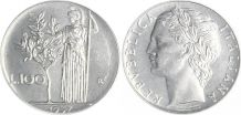 Lot de 2 Pièces de 100 Lires Italiennes 1957-58