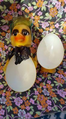 boîte vintage pour oeufs de Pâques kitsch canard