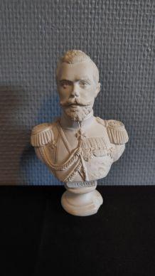 buste de Nicolas II en plâtre