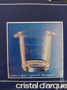 Seau à glaçons en cristal d'Arques
